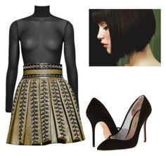 """Untitled #550"" by adsmith2321 on Polyvore featuring Balmain and Kurt Geiger"
