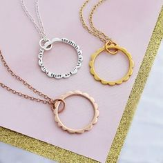 Personalised Scalloped Circle Necklace - gifts for her