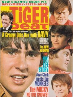 The Monkees - Tiger Beat cover (1967)