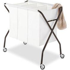 Whitmor Triple Laundry Sorter, Espresso