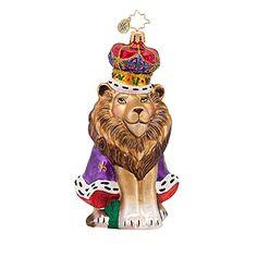 Radko Lion Christmas Ornament 2014