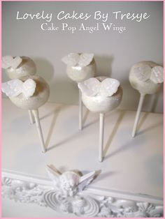 My Cake Pops I made for a funeral or you could use it for a baby shower