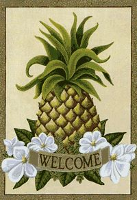 "View Pineapple Welcome Silk Reflections Flag 29""x43"" - 13591EG"