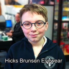 82216f854b38 This young man is looking sharp in his new Scarsdale by Zero G. Visit  www.HicksBrunson.com to shop for frames, view our blog and more.  918-743-6478.