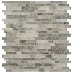 Savoy Interlocking 12 in. x 12 in. x 8 mm Glass Mesh-Mounted Mosaic Tile sq. - The Home Depot Shower Backsplash, Kitchen Backsplash, Granite Kitchen, Kitchen Counters, Backsplash Ideas, Granite Countertops, Kitchen Island, Mosaic Wall Tiles, Mosaic Glass