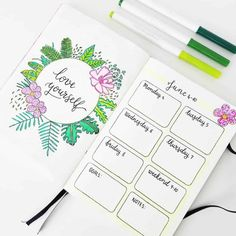 Whether its for a summer spread or a tropical spread, these 33 tropical inspired bullet journal spreads are sure to make you feel like taking a holiday! Bullet Journal August, Bullet Journal Travel, Bullet Journal Quotes, Bullet Journal Printables, Bullet Journal Spread, Bullet Journal Ideas Pages, Bullet Journal Layout, Bullet Journal Inspiration, Bullet Journals