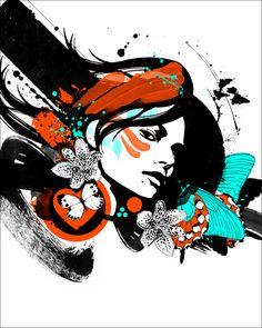 日本DJ OKAWARI专辑封面插画设计