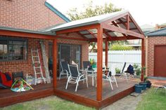 Pergola With A Gable Style Roof Double Rafters And