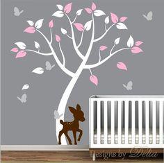 Baby deer nursery wall decal
