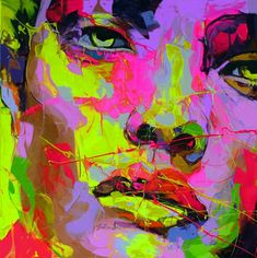 Cheap art design picture, Buy Quality pictures canada directly from China pictures pressure Suppliers: Palette knife portrait Face Oil painting Character figure canvas Hand painted Francoise Nielly wall Art picture for living Art Pop, Abstract Canvas, Oil Painting On Canvas, Bright Colors Art, Images D'art, L'art Du Portrait, Frida Art, Wall Art Pictures, Artist Art