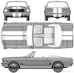 Blueprint of a ford mustang #8