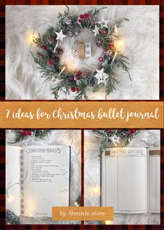 Looking to add some Christmas feeling to your bujo? These 7 layout are not only beautiful but also will help you to get most of Holiday season and to reduce stress of the preparations!