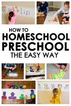 Homeschool Preschool: The Playing Preschool Program - Busy Toddler