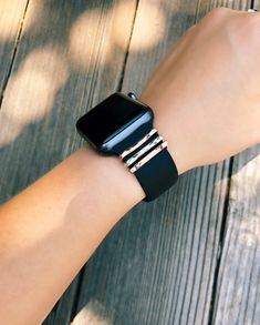 Items similar to Apple Watch Band Charms, Apple Watch Bling, FitBit Ionic Band Charms, FitBit Versa Band, Charge Series on Etsy Apple Watch Space Grey, Rose Gold Apple Watch, Airpods Apple, Black Apple, Modern Watches, Cool Watches, Sport Watches, Telefon Apple, Apple Watch Bands Fashion