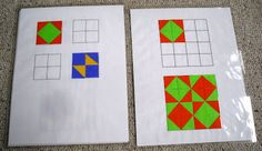 Here's an activity that covers flips, slides, and turns, grids, patterns, and more!