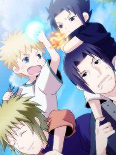 These two are really competitive huh.. Naruto Vs Sasuke, Anime Naruto, Comic Naruto, Naruto Cute, Naruto Funny, Naruto Shippuden Anime, Familia Uzumaki, Familia Anime, Wallpapers Naruto