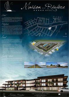 River House Rivière Hotel – Famous Last Words Concept Board Architecture, Architecture Presentation Board, Architecture Background, Hotel Architecture, Architecture Panel, Vernacular Architecture, Architecture Visualization, Presentation Boards, Portfolio Architect