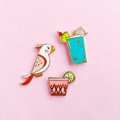Tropical Pin Set // cloisonné, hard enamel, pin badge, enamel pin, lapel pin