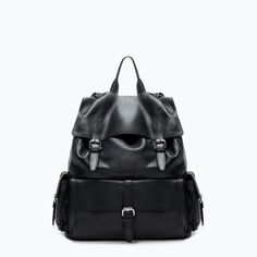 ZARA - MAN - RETRO LEATHER BACKPACK