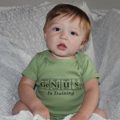 Periodic Table Onesie  GENIUS In Training  by periodicallyinspired, $20.00