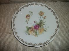 Antique Bavaria Germany Plate Roses Design Fancy by FabulousFinds1, $9.99