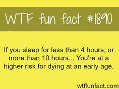 Sleep and health facts -  WTF fun facts