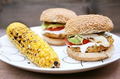 Chipotle Chickpea Burger with Toasted Sunflower Seeds & Spicy Lemon Mayo