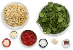 Fresh Basil Fettuccine with Datterini Tomatoes & Goat Cheese ingredients
