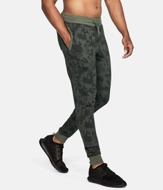 Under Armour UA Microthread Fleece Patterned Stacked Joggers Men's Pants - Mens Joggers Sweatpants, Fleece Joggers, Jogger Pants, Harem Pants, Men's Pants, Fleece Patterns, Mens Activewear, Under Armour Men, Famous Brands
