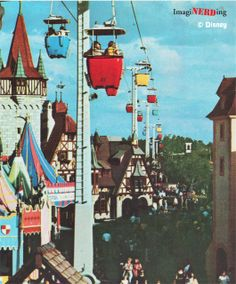 Fantasyland Gondola ride: Vintage photo Walt Disney World