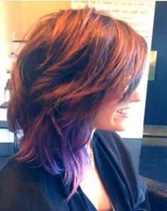 Demi Lovato Debuts Short Bob Haircut, Keeps Purple Tips: Pictures - Us Weekly