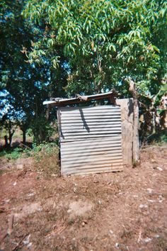 In rural El Salvador, this is a bathroom.