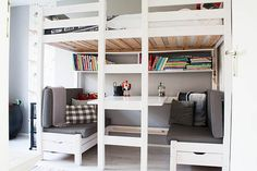 Bunk Beds With Storage and Desk Underneath