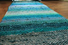"""Rug """"Sunken City"""" - Terra Mama City Rugs, Sunken City, Recycled Fabric, Woven Rug, Hand Weaving, Recycling, Rug Weaves, Knit Rug, Hand Knitting"""