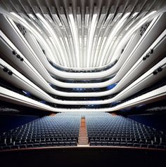 Hétérotopie, Vincent J. Theater Architecture, Space Architecture, Architecture Details, Organic Architecture, Auditorium Design, Le Manoosh, Modern Church, Hall Design, Theatre Design
