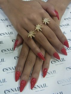 Classic red stilettos - love the ring aswell.
