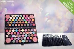 Estojo de maquiagem com 84 sombras em 3D e 4 blushes, por apenas R$79.90