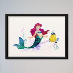 Weiteres - Arielle Die kleine Meerjungfrau Kunstdruck A4 von Traumweber via DaWanda.com