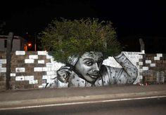 opere di Street Art che interagiscono con l'ambiente circostante:) Hair, Fort De France, Martinique Image credits: Nuxuno Xän