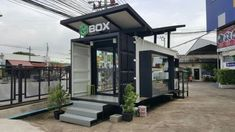 Container cabin, container coffee shop, container office, container house d Container Coffee Shop, Container Office, Container Cabin, Container House Design, Shipping Container Cafe, Shipping Container Home Designs, Shipping Containers, Container Buildings, Container Architecture
