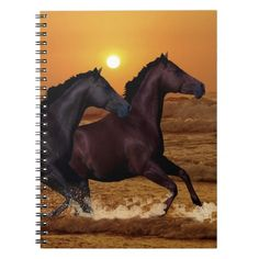 Two horse and the ocean notebook