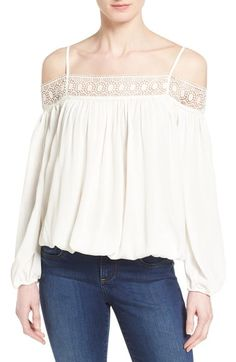 Dex Cold Shoulder Peasant Top available at #Nordstrom