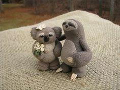 Sloth Large Cake Topper Wedding Love