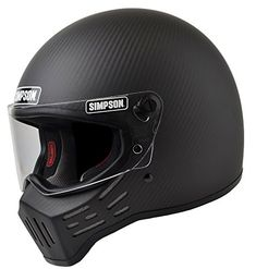 Simpson M30 Bandit DOT Satin Carbon Fiber Motorcycle Helmet-Medium Simpson…