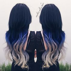 Wonderful blue ombre hair color~ really my favorite hairstyle