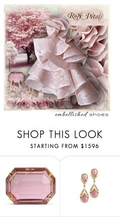 """""""Magic Slippers: Embellished Shoes"""" by dezaval ❤ liked on Polyvore featuring Waverly, Charlotte Olympia, Marchesa and Guerlain"""