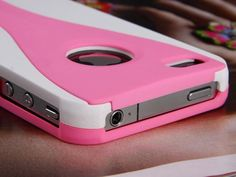 Pandamimi iPhone 4 4S and 4G Exo Polycarbonate Slim 3-Piece Hard Case Cover- White/Pink (Fits AT... $3.49