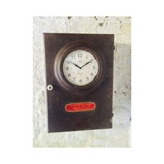 industrial clock cabinet in rusty brown finish 1930 style Industrial Clocks, Vintage Industrial, Cabinet Making, Wall Clocks, Iron, Retro, Antiques, How To Make