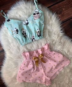 Cute Teen Outfits, Teen Fashion Outfits, Toddler Girl Outfits, Outfits For Teens, Cool Outfits, Girl Fashion, Cute Pajama Sets, Cute Pjs, Cute Pajamas