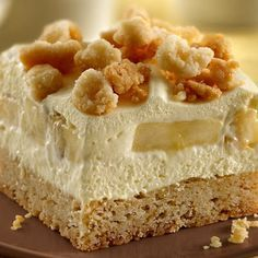 Banana Cream Squares - Absolutely delicious! I wouldn't change a thing in this recipe. This is will definitely be great for summer time. Came out exactly as pictured, and I got lots of requests for the recipe!